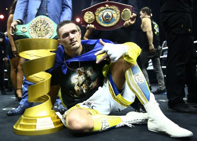 Usyk is the first boxer to hold the WBA, WBC, IBF and WBO titles simultaneously in the cruiserweight division