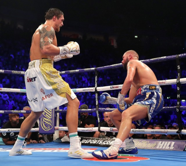 Usyk knocked out Tony Bellew in his last fight