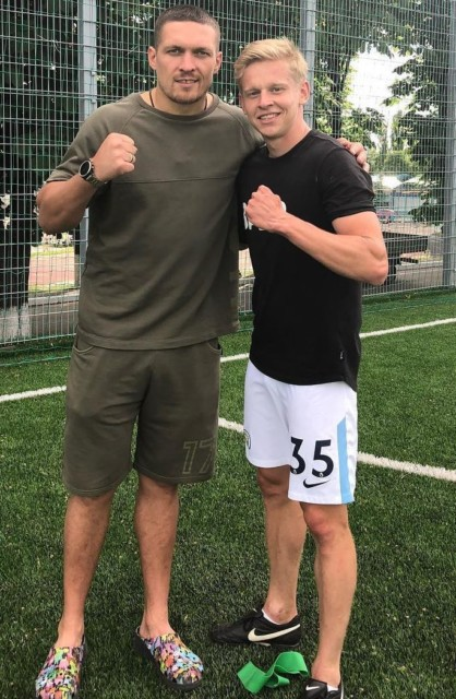 Usyk could have been a famous footballer like Man City star Oleksandr Zinchenko